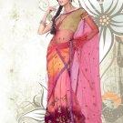 Partywear Faux Georgette Embroidery Lehenga Sari With Blouse - GW Rambha D N