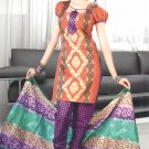 Shalwar & Salwar Kameez Dress Jacquard Satin Casual With Dupatta - X 08 N