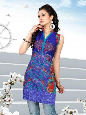 Indian Bollywood Cotton Partywear Kurti Kurta Tops - X 1004A