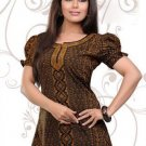 Indian Bollywood Faux Crepe Partywear Kurti Kurta Tops - X 40
