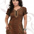 Indian Bollywood Faux Crepe Partywear Kurti Kurta Tops - X 44