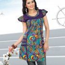 Indian Bollywood Cotton Partywear Kurti Kurta Tops - X 1022B