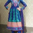 Net & Chiffon Partywear Embroidered Shalwar & Salwar Kameez - X 3441 N