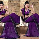 Wedding Faux Georgette Traditional Embroidered Saree Sari With Blouse - X 711 N