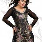 Indian Bollywood Korra Silk Partywear Embroidered Kurti Kurta Tops - X 111a