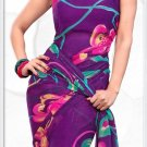 Indian Bollywood Faux Georgette Printed Sari With Unstitch Blouse - X 2181B N