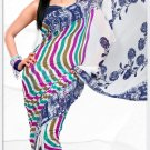 Indian Bollywood Faux Georgette Printed Sari With Unstitch Blouse - X 2183B N