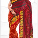 Indian Bollywood Faux Georgette Printed Sari With Unstitch Blouse - X 2170A N