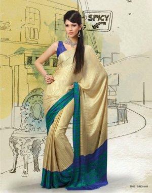 Sarees Sari Partywear Silk Designer Printed With Blouse - SM 7953 N