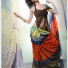 Faux Georgette Partywear Designer Printed Saree Sari With Blouse - X 2517 N