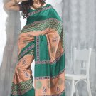 Sari Saree Raw Silk Casual Printed With Unstitch Blouse - VF 5215A N