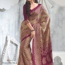 Sari Saree Raw Silk Casual Printed With Unstitch Blouse - VF 5225A N