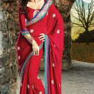 Bridal Crepe Traditional Embroidery Full Patli Sarees With Blouse - OD 18005 N