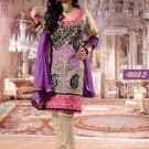 Silk Designer Embroidery Shalwar Salwar Kameez With Dupatta - CS 6002 N