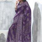 Sari Saree Raw Silk Casual Printed With Unstitch Blouse - VF 5225B N