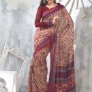 Sari Saree Raw Silk Casual Printed With Unstitch Blouse - VF 5223A N