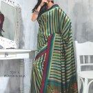 Sari Saree Raw Silk Casual Printed With Unstitch Blouse - VF 5219A N
