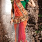 Bridal Linen Traditional Embroidery Side Patli Saree With Blouse - OD 18013 N