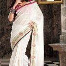 Bridal Cotton Traditional Embroidery Full Patli Sarees With Blouse - OD 18004 N
