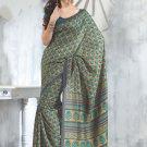 Sari Saree Raw Silk Casual Printed With Unstitch Blouse - VF 5214B N