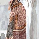 Sari Saree Raw Silk Casual Printed With Unstitch Blouse - VF 5227B N