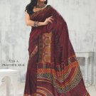 Sari Saree Raw Silk Casual Printed With Unstitch Blouse - VF 5218A N