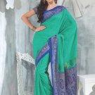 Sari Saree Tasar Silk Casual Printed With Unstitch Blouse - VF 5211B N