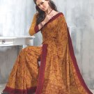 Sari Saree Tasar Silk Casual Printed With Unstitch Blouse - VF 5220A N