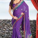 Bridal Jacquard Traditional Embroidery Full Patli Saree With Blouse - OD 18017 N