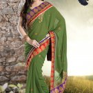 Bridal Georgette Traditional Embroidery Full Patli Saree With Blouse- OD 18019 N