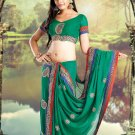 Bridal Jacquard Traditional Embroidery Full Patli Saree With Blouse - OD 18023 N