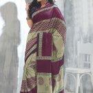 Sari Saree Raw Silk Casual Printed With Unstitch Blouse - VF 5215B N