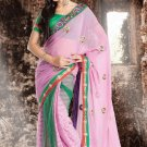 Bridal Chiffon Traditional Embroidery Full Patli Saree With Blouse - OD 18025 N