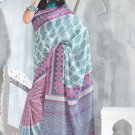 Sari Saree Raw Silk Casual Printed With Unstitch Blouse - VF 5227A N