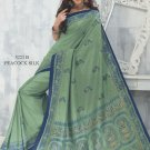 Sari Saree Raw Silk Casual Printed With Unstitch Blouse - VF 5221B N