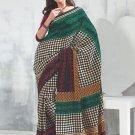 Sari Saree Raw Silk Casual Printed With Unstitch Blouse - VF 5210B N