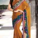 Bridal Chiffon Traditional Embroidery Full Patli Saree With Blouse - OD 18015 N