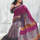 Sari Saree Raw Silk Casual Printed With Unstitch Blouse - VF 5210A N