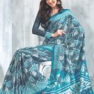 Sari Saree Raw Silk Casual Printed With Unstitch Blouse - VF 5217B N