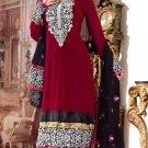 Faux Georgette Designer Embroidery Shalwar Salwar Kameez With Dupatta- CS 6009 N