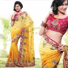 Bridal Pure Georgette Georgeous Embroidered Sarees Sari With Blouse - X 1009 N