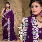 Wedding Faux Georgette Traditional Embroidered Saree Sari With Blouse - X 708 N
