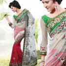 Bridal Pure Georgette Georgeous Embroidered Sarees Sari With Blouse - X 1007 N