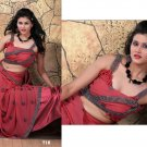 Wedding Faux Georgette Traditional Embroidered Saree Sari With Blouse - X 716 N