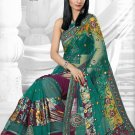 Partywear Faux Georgette Embroidered Sari With Unstitch Blouse - TS 30011 N