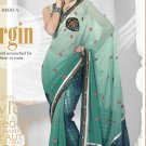 Partywear Faux Georgette Embroidered Sari With Unstitch Blouse - TS 30020a N