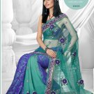 Partywear Faux Georgette Embroidered Sari With Unstitch Blouse - TS 30005 N