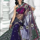Partywear Net Embroidered Sari With Unstitch Blouse - TS 30002 N