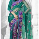 Partywear Net Embroidered Sari With Unstitch Blouse - TS 30014 N
