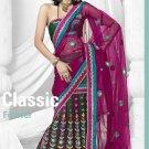 Partywear Net Designer Lehenga Emrbrodered With Sari Blouse - TS 30004 N